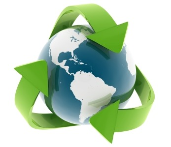 Purcell Systems environmental policy symbolized by recycling the earth's resources