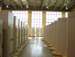 Purcell Systems electronic equipment enclosures staged for shipment worldwide